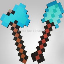 2Pcs/Lot New Minecraft Toys Foam Sword Pick Axe Minecraft Game Weapons Model Toys Kids Toys Birthday & Christmas Gift 18-23 inch(China)