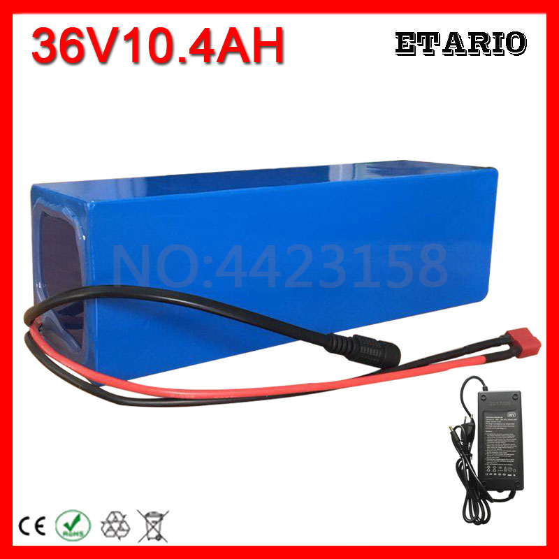 Free Custom Tax 36V 10AH Electric Bike Battery 36 Volt Lithium Battery with PVC case for 36V 10AH Ebike Battery 42V 2A Charger