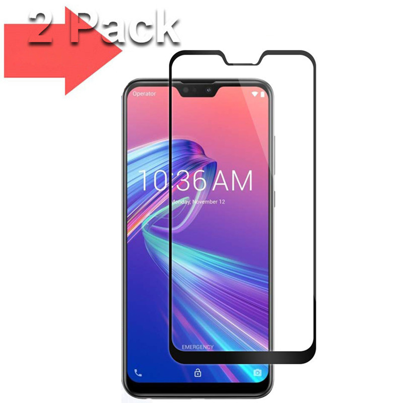 2 pcs protective glass For Asus Zenfone Max Pro M2 ZB631KL ZB633KL screen protector tempered glass 06