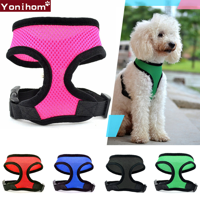 Cute Dog Collars For Small Dogs Harness No Pull Breathable Mesh