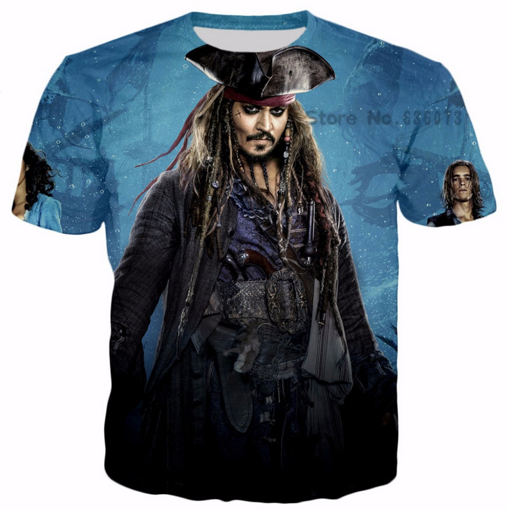 New Fashion Women/Men Pirates of the Caribbean 3D Printed Casual T-Shirt Hip Hop Famous Brand Harajuku T Shirt