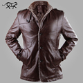 2017 New Brand PU Leather Jacket Men Winter Jackets and Coats Thickening Wool Windbreak Warm Jaquetas De Couro Coat Plus Size3XL