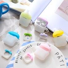 Mające zastosowanie do Airpods1 butelki silikonowe przypadku AirPods2 skóry Pokrywa ochronna bezprzewodowy zestaw słuchawkowy Bluetooth pudełko smoczek