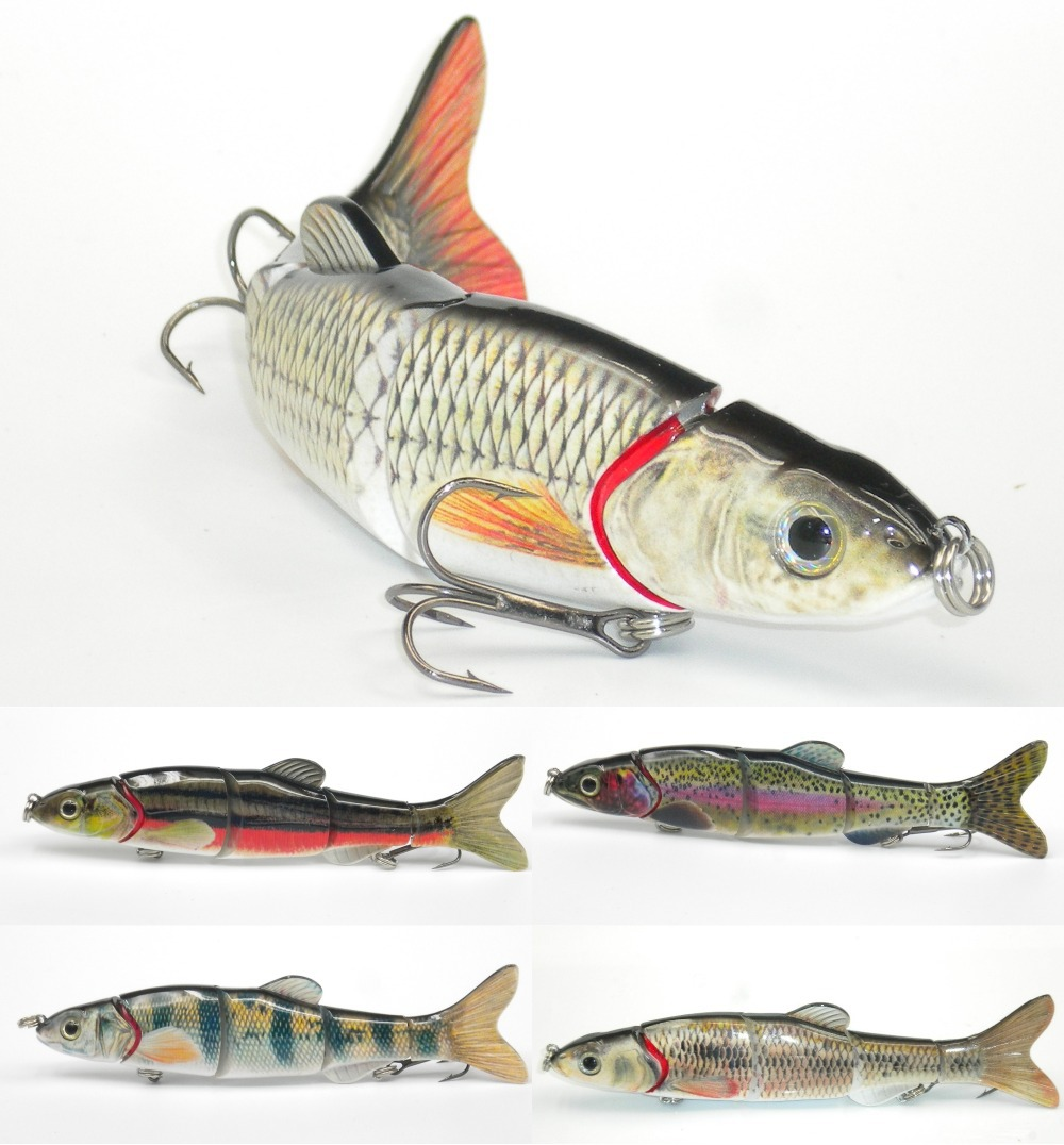Multi section 5 section fishing lure crank bait swimbait for Fishing tackle and bait