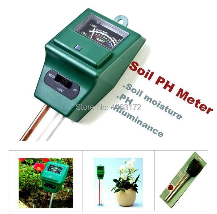 Гигрометр почвы, почвы рН метр, интенсивность света, садоводство тройной детектор.