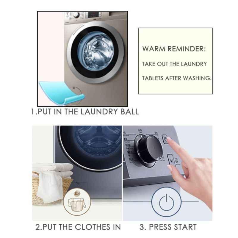 Comprimidos De Lavanderia De Lavagem Doméstica Máquina de Lavar Roupa de Pano casa Filtro de Discos de Limpeza Concentrado Lavanderia Lavanderia Limpeza 10 Pcs