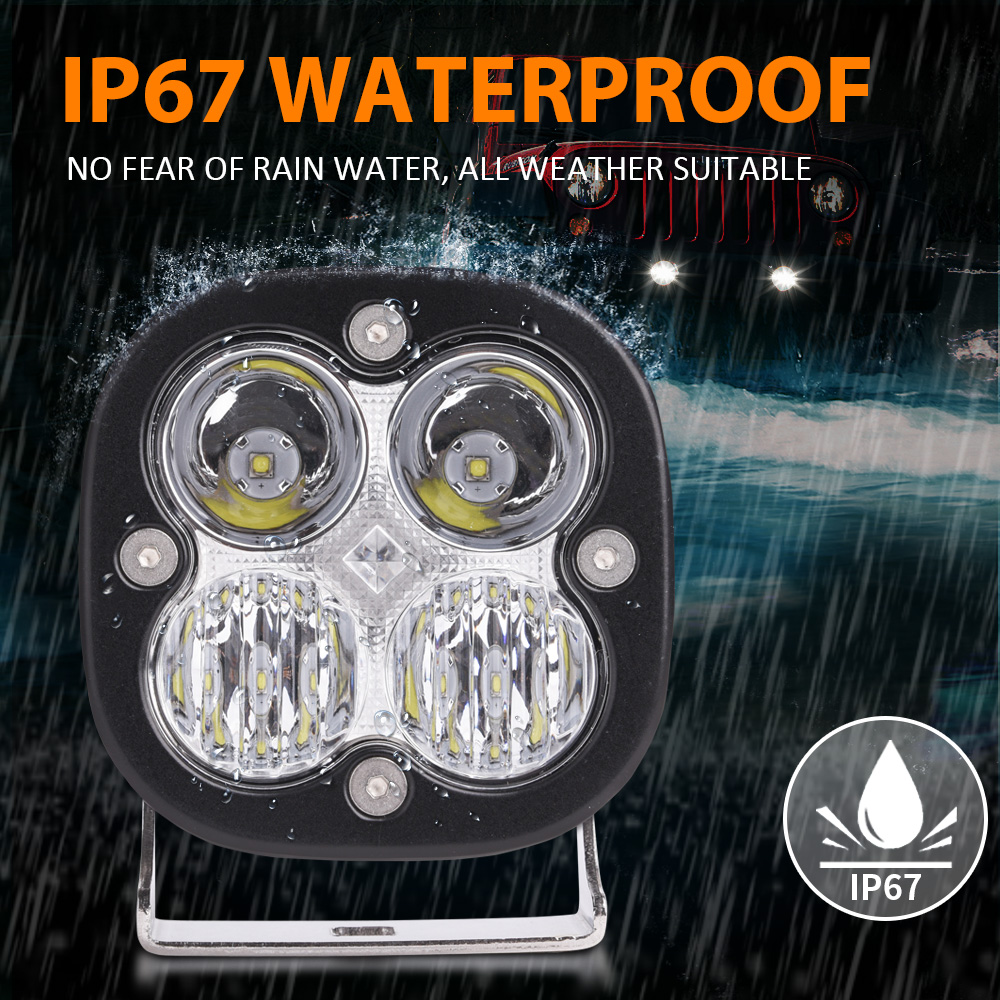 2pcs 3 1 quot 50W LED Work Light Bar Combo Off Road Driving Fog Lamp Super Bright 3000LM LED Work Light for Truck Car ATV SUV ATV in Light Bar Work Light from Automobiles amp Motorcycles