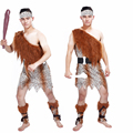Free shipping Halloween costume cosplay costume adult male Indian leopard African primitive savage Cosplay costume