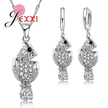 c8a8c7c9f51716 Jemmin Fashion Bird Pendant Necklace Earrings Jewelry Sets 925 Sterling  Silver Crystal Bridal Wedding Jewelry Set For Women