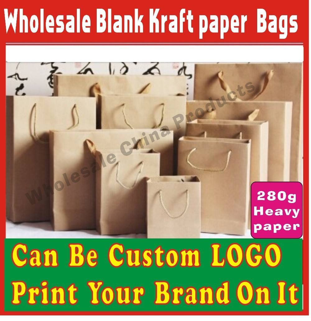 10pcs 13X8X15cm Kraft paper bag can be custom your logo on it clothing bag gift bag shopping bags No.1,more size can choose