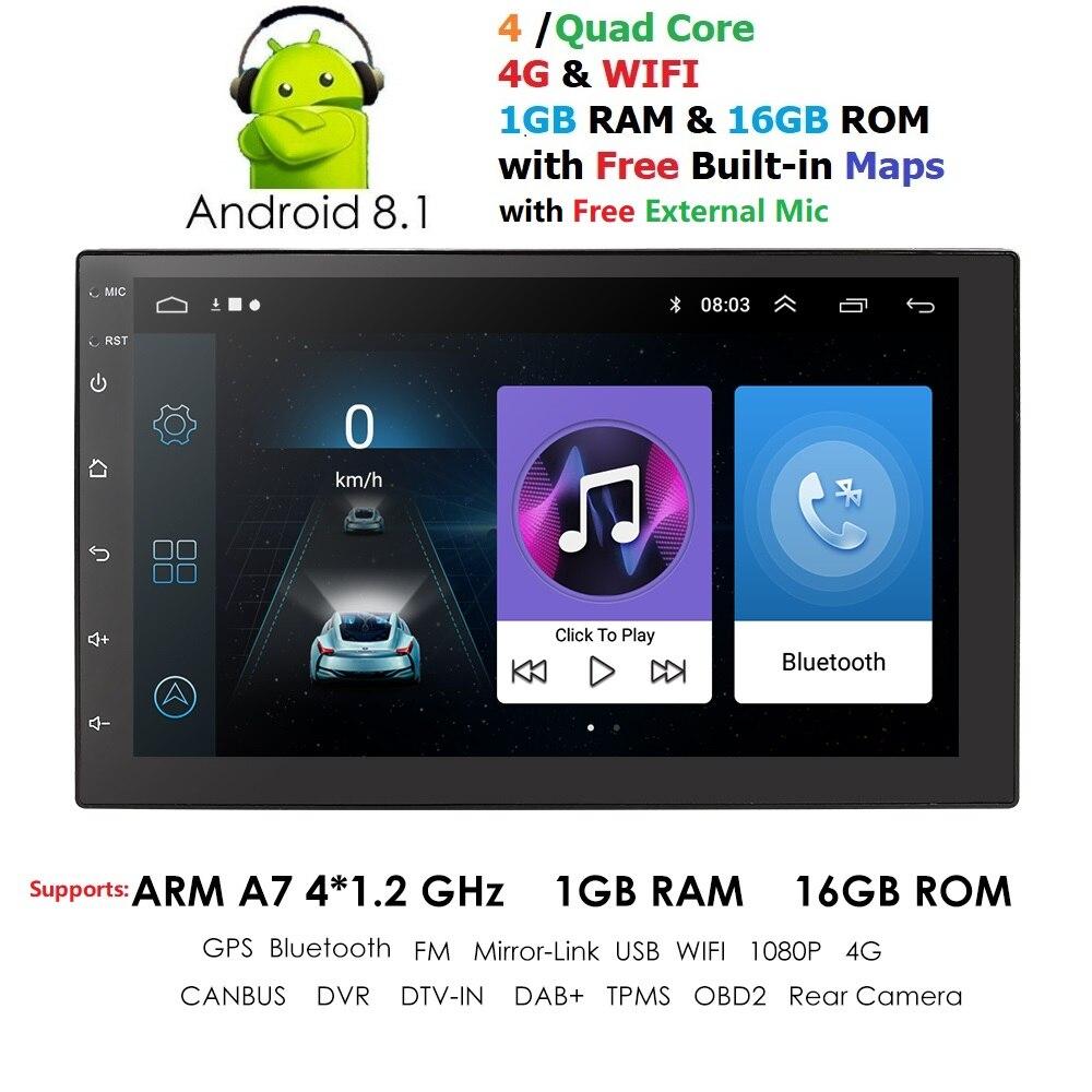 Podofo 2din autoradio 7 Car Radio Multimedia Player GPS Navigation Camera Bluetooth MP5 Stereo Audio Car