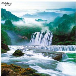 Beibehang Wall Murals Painting Background Waterfall Landscape Custom Personalized