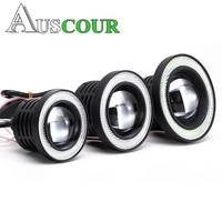 2 pcs Fog Projector Lens Angel eyes LED DRL Fog Driving Light 2.5 inch 3.0 inch 3.5inch COB Halo Ring white color yellow color