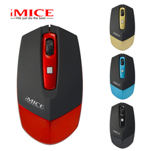iMice Gold 1600 DPI Mini Ultra-thin Wireless Mouse USB 2.4G Receiver Computer PC Laptop Mac Desktop