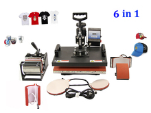 DHL free dhl free Multifunctional Sublimation Heat Press Machine 6 in 1 for Cap Mug Plates T-shirts Printing