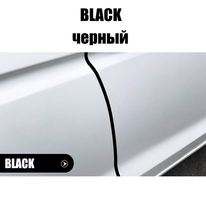 Image 4 - 5meter/Lot Invisible Car Door Side Seal Anti collision Auto Door Strip Bumper Protector Car Crash Anti rub Protection Stickers-in Car Stickers from Automobiles & Motorcycles