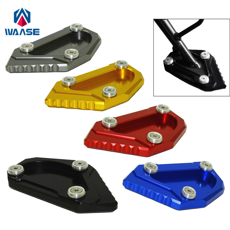 waase Kickstand Foot Side Stand Extension Pad Support Plate For Suzuki V-Strom 650 DL650 2012 2013 2014 2015 2016 2017 2018
