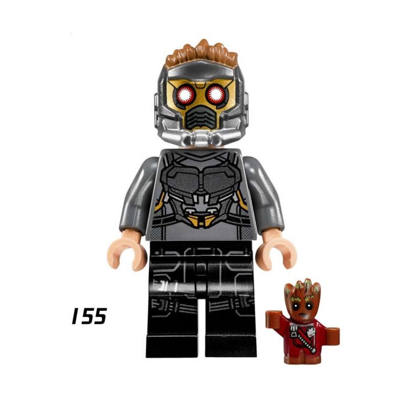 Single Sale Super Heroes Star Wars 155 Star-Lord Model Mini Building Blocks Figure Bricks Toy Kid Gift Compatible Legoed Ninjaed