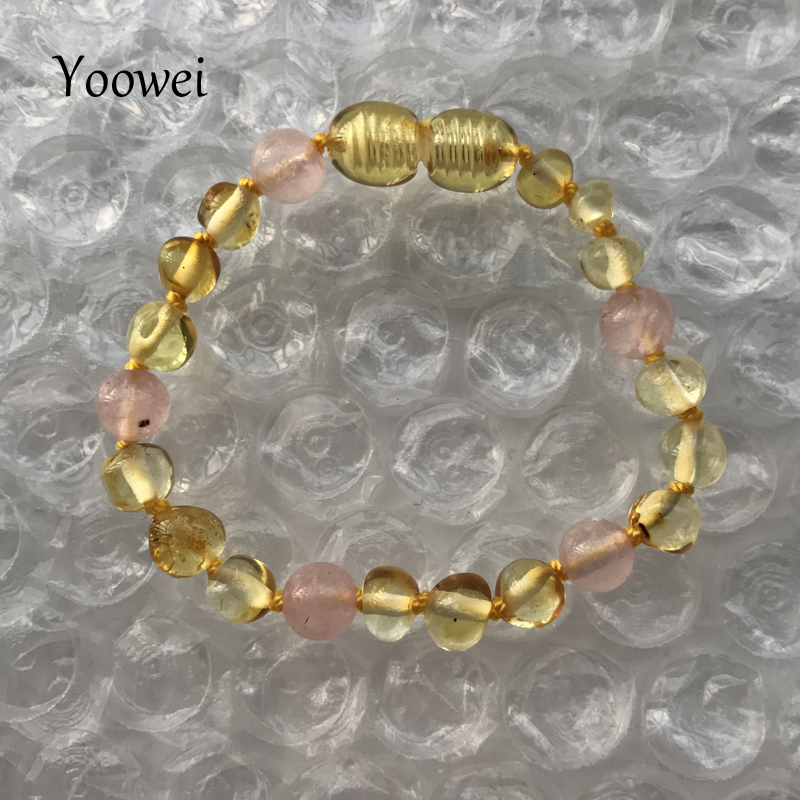 HTB1LZLWfBDH8KJjSspnq6zNAVXas Yoowei 9 Color Baby Amber Bracelet/Necklace Natural Amethyst Gems Adult Baby Teething Necklace Baltic Amber Jewelry Wholesale