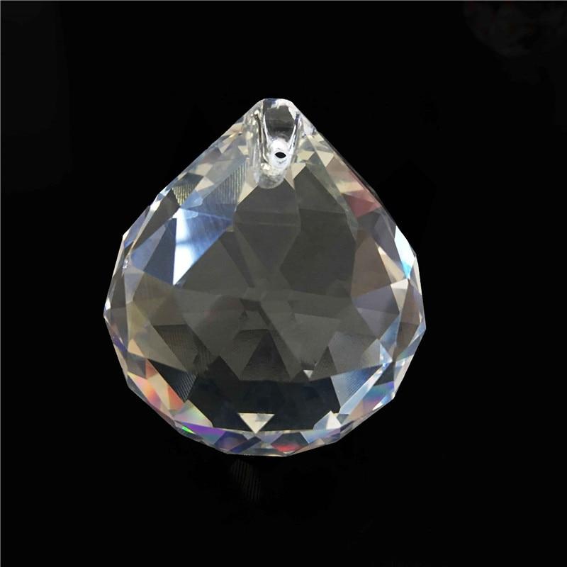 1PC / Lot 80 մմ Crystal Glass Fengshui Facized Prism - Տոնական պարագաներ - Լուսանկար 1