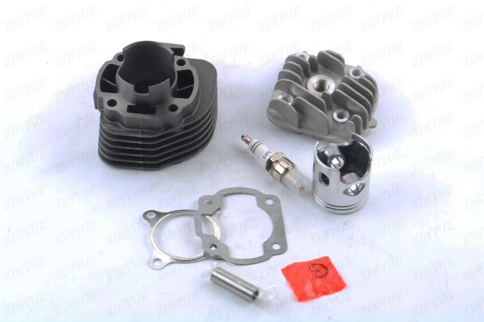 70cc 2 stroke Big Bore Performance Cyinder Kit 1E41QMB 1PE40QMB - JOG 47mm piston 12mm +E6TC spark plug стоимость