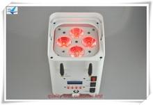 (6 шт. + вилка случае) DJ смартфон свет мыть батареи 4×12 Вт rgbwauv 6in1 беспроводной батарейках светодиодный uplights