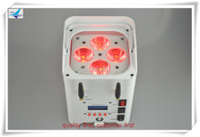 (6pcs+Plug Case)DJ smartphone led light wash battery 4x12w rgbwauv 6in1 wireless battery powered led uplights