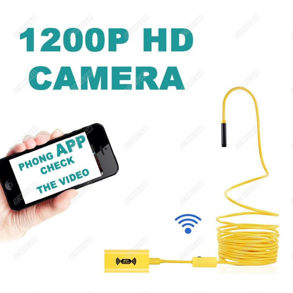 Endoskopkamera WiFi 8mm Objektiv 1200P HD IP68 Värmebeständig - Kamera och foto