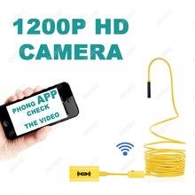 Endoscope Camera WiFi 8mm Lens 1200P HD IP68 Warterproof Endoscope USB Mini Camera Borescope For Android iPhone Windows цены