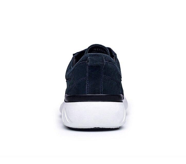 Air Nouveau Plein Porc Peau Casual Plat De Gray black Hommes ChaussuresMode Suède En Cuir Chaussures ConfortableVéritable Homme Cyabmoz Dentelle Up blue strhQd