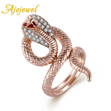 Free shipping bijoux finger rings! 18k gold plated snake rings for men