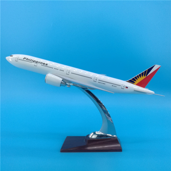 32CM Airways Boeing B777 PHILIPPINES Airlines Airplane Model Toys Aircraft Diecast Plastic Alloy Plane Gifts for Kids