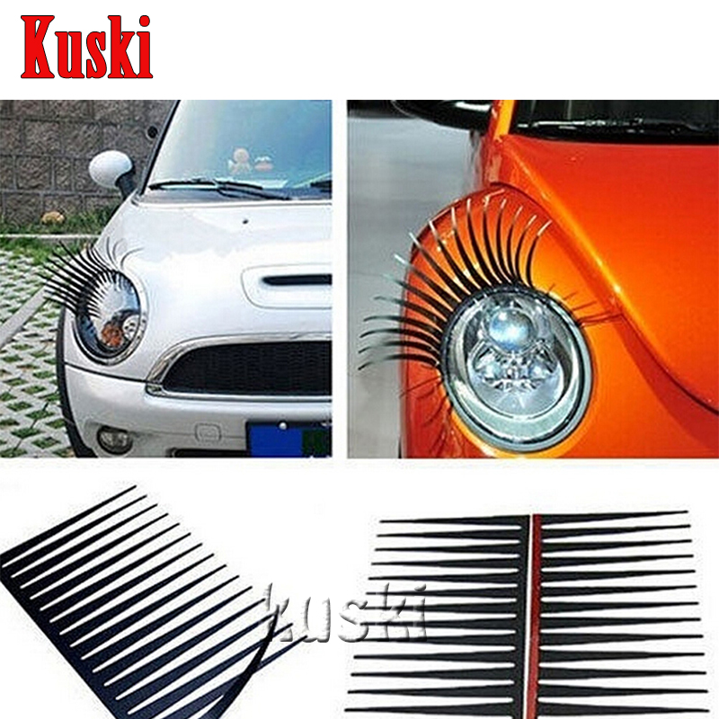 Eye Lash Sticker Car Headlight Decoration For Ford Focus 2 3 1 Fiesta Mondeo Kuga Ecosport Alfa Romeo 159 147 156 166 GT Mito