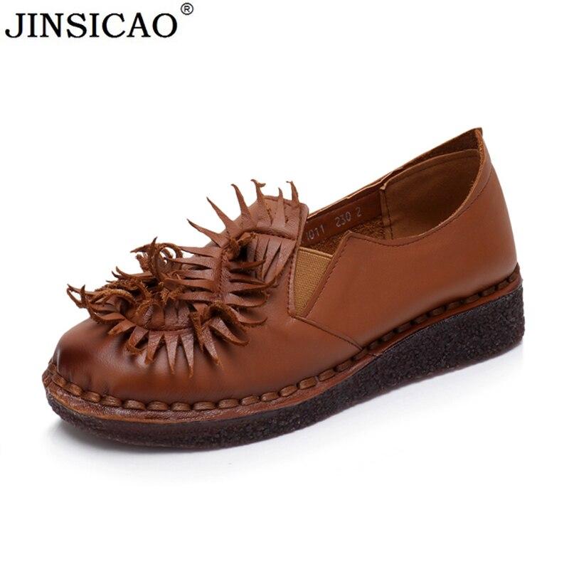 ac71ba85cc Auténtico op 35 2018 Mujer Suave marrón Grande gris 43 Inferior Cuero ~  Tamaño Moda Zapato Negro Pisos Casual ...