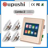 Популярный умный дом аудио фоновая музыкальная система Bluetooth цифровой стерео усилитель настенный усилитель с сенсорным ключом SD карта Usb