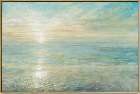 Van Gogh Sea Cross Stitch Kits Sunrise Scenery Crafts 14CT Unprinted Embroidered Handmade Art DMC Oil