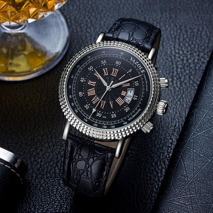 YAZOLE Business Calendar Wristwatch Men Watches 2018 Famous Brand Luxury Quartz Watch For Male Clock Hodinky Relogio Masculino