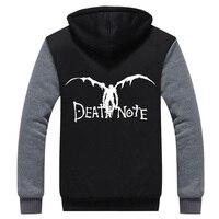 2016 Mens Hoodie Winter Death Note Thicken Fleece Ryuuku US EU Plus Size