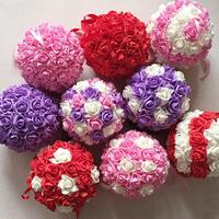 1 Pcs Artificial Flowers Romantic Foam Rose Balls Bride Holding Flowers Home Wedding Party Decoration Supplies