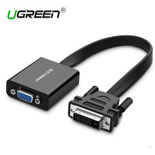 Ugreen Full HD 1080 P DVI DVI-D 24 + 1 TO VGA HDTV Adapter Converter TO VGA Female Monitor kabel untuk PC Laptop HDTV Hitam(China)