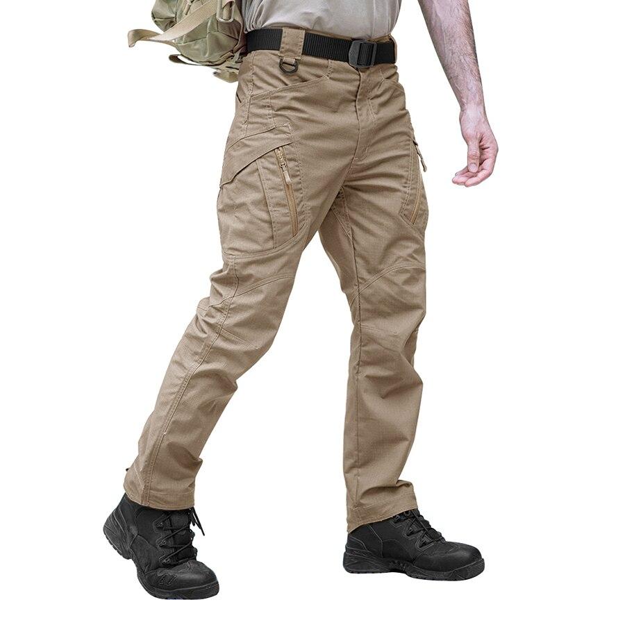 Taktische Hosen Armee Military Style Cargo Hosen Männer X7 IX9 Kampf Hosen Casual Arbeit Hosen SWAT Dünne Tasche Baggy Hosen