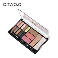 O.TWO.O 15 Shades Eyeshadow Highlighter Glitter and Matte Smoky Eyeshadow Palette Blush