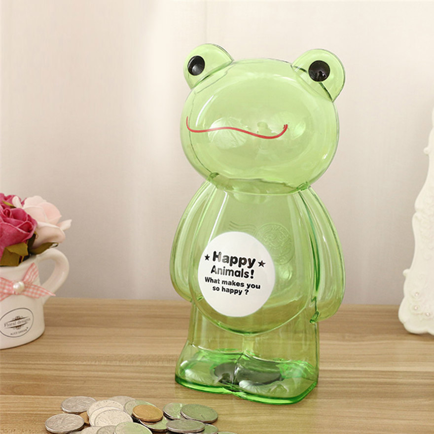 Piggy Bank Money Box Bear Frog Plastic Coin Bank Cartoon Modern Money  Saving Box Home Decor Figurine Craft Gift For Kid Children-in Money Boxes  from Home ...