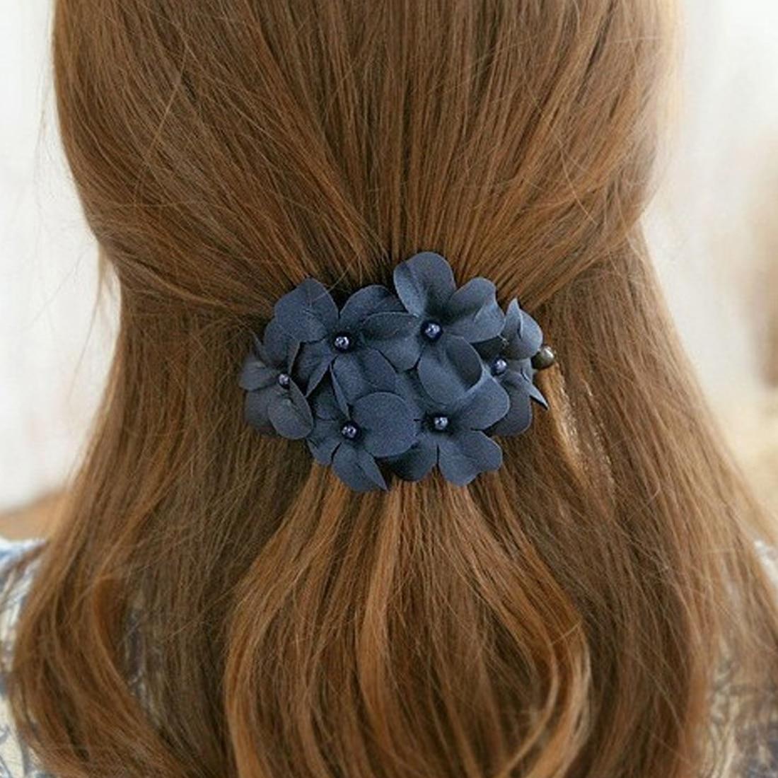 Plastic Barrette Fashion Hair Accessories  Flowers Pearl Hairpin Hair Clips WomenHair Pins Hair Grip Floral Hairdresser Tool