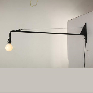 Image 2 - Loft Jean Prouve Dining Room Wall Lamp Retro Long Arm Lights Industrial  Bar/ Cafe / Designer Light With Led Bulbs