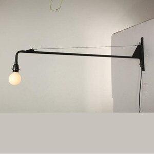 Image 2 - Çatı Jean Prouve yemek odası duvar lambası Retro uzun kol ışıkları endüstriyel Bar/ Cafe/tasarımcı ışık Led ampuller