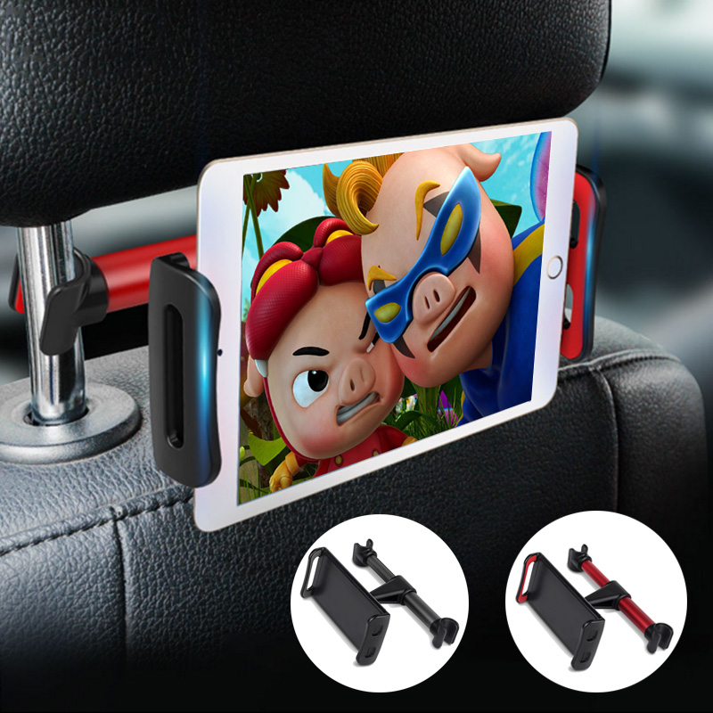 Universal 360 Rotating Backseat Tablet Mobile Phone Stand Headrest Holder Support For Iphone Samsung IPad Car Back Seat Clamp