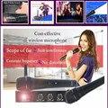 K2 mezclador de Karaoke Micrófono Inalámbrico con Pantalla 30 M Distancia 2 Canales de Micrófono de Mano Sistema de Micrófono Inalámbrico Karaoke