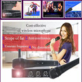 Karaoke mixer k2 Wireless Microphone with Screen 30M Distance 2 Channel Handheld Mic System Karaoke Wireless Microphone