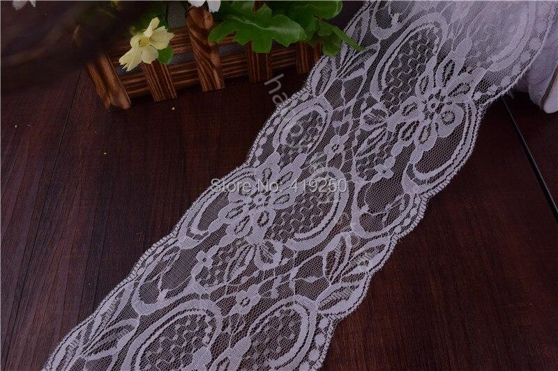 ᐂ100 yarda 11 cm ancho artesanía neto Encaje ajuste de la cinta ...